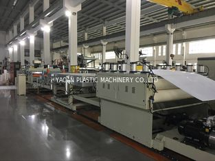 PE / PP / PC Hollow Grid Sheet Extrusion Line Making Machine Grey Machine Color