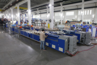 China Twin Screw Extruder Plastic Profile Extrusion Machine For Window / Door factory