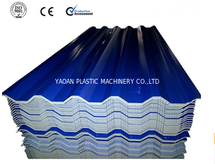 China Double Wall Hollow Plastic Roof Tile Machine Heat / Sound Resistance factory