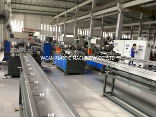 China Three Colors Plastic Wicker Extrusion Machine For Furniture Grey Machine Color factory