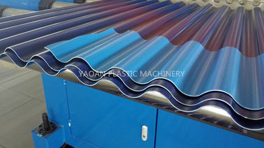 China Single Screw Roof Tile Production Machines , PP Roof Tile Forming Machine factory