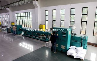 Double Screw Extruder Plastic Water Pipe Making Machine , Pvc Pipe Extrusion Line