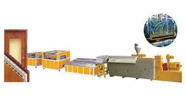 Pvc Door Profile Plant Plastic Profile Extrusion Machine With CE Certificate