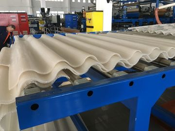 China Blue Machine Color PP Hollow Sheet Extrusion Line For Construction Decoration factory