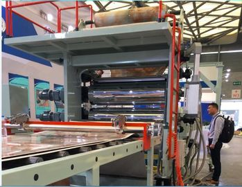 China Double Screw Plastic Profile Extrusion Machine For PVC Artificial Marble Sheet factory