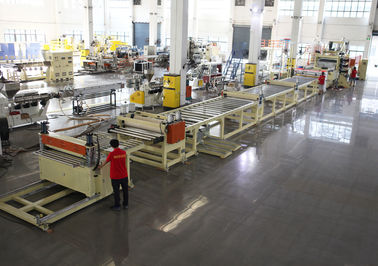 HDPE PP Thick Sheet Extrusion Machine , Thick Board Production Line Thickness Range 2-15mm