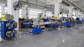 China Garden Hose / Braided Yarn Reinforced PVC Hose Extrusion Line , PVC Plastic Pipe Extrusion Machine factory