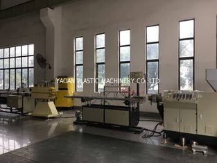 AC Motor Plastic Profile Extrusion Machine , PVC Cable Channel Extrusion Making Machine