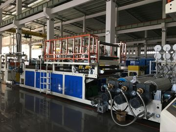 Three Layer PC ABS Plastic Sheet Extrusion Machine For Making Baggage Luggage Case
