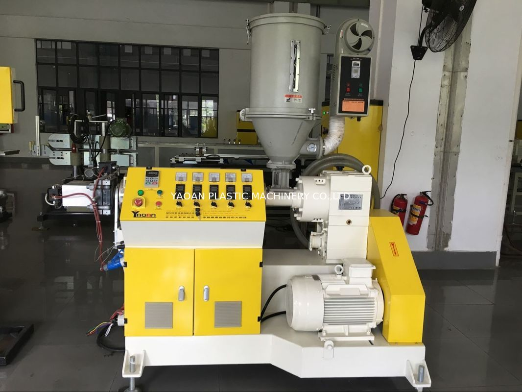 Professional Plastic Profile Extrusion Machine For LED House Light Single Screw supplier