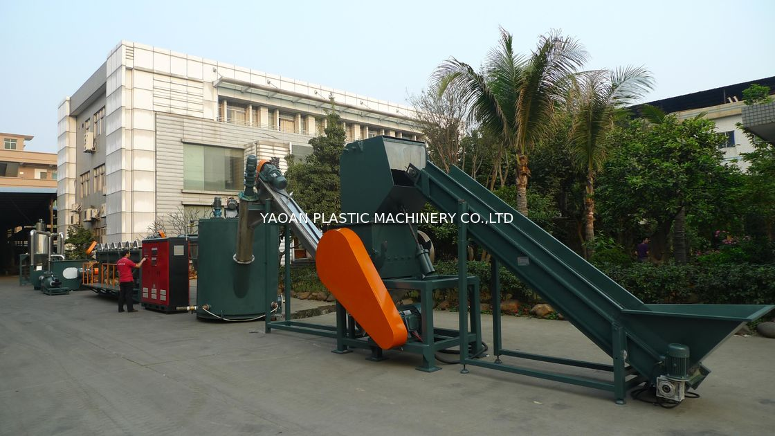 PET Bottles Plastic Washing Recycling Machine Blue Machine Color Big Capacity supplier