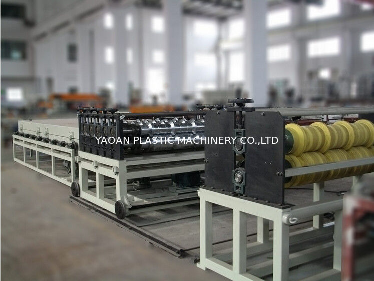 PVC Colorful Plastic Roof Tile Machine Roof Tiling Equipment Double Screw Extruder supplier