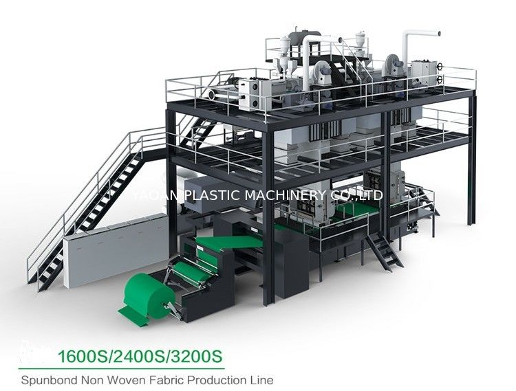 CE Approved Non Woven Fabric Manufacturing Machine With PP Chips Raw Material  supplier