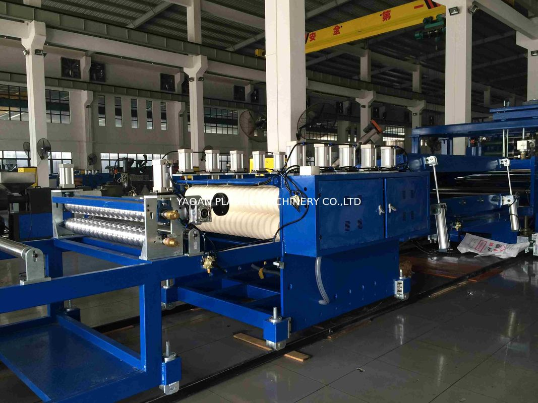 PVC PET Corrugated Wave Roof Tile Sheet Extrusion Machine Width 850-1050mm supplier