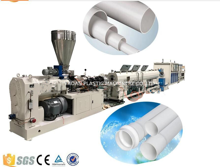 Drainage And Electric Conduit PVC Plastic Pipe Extrusion Machine , PVC Pipe Production Line supplier