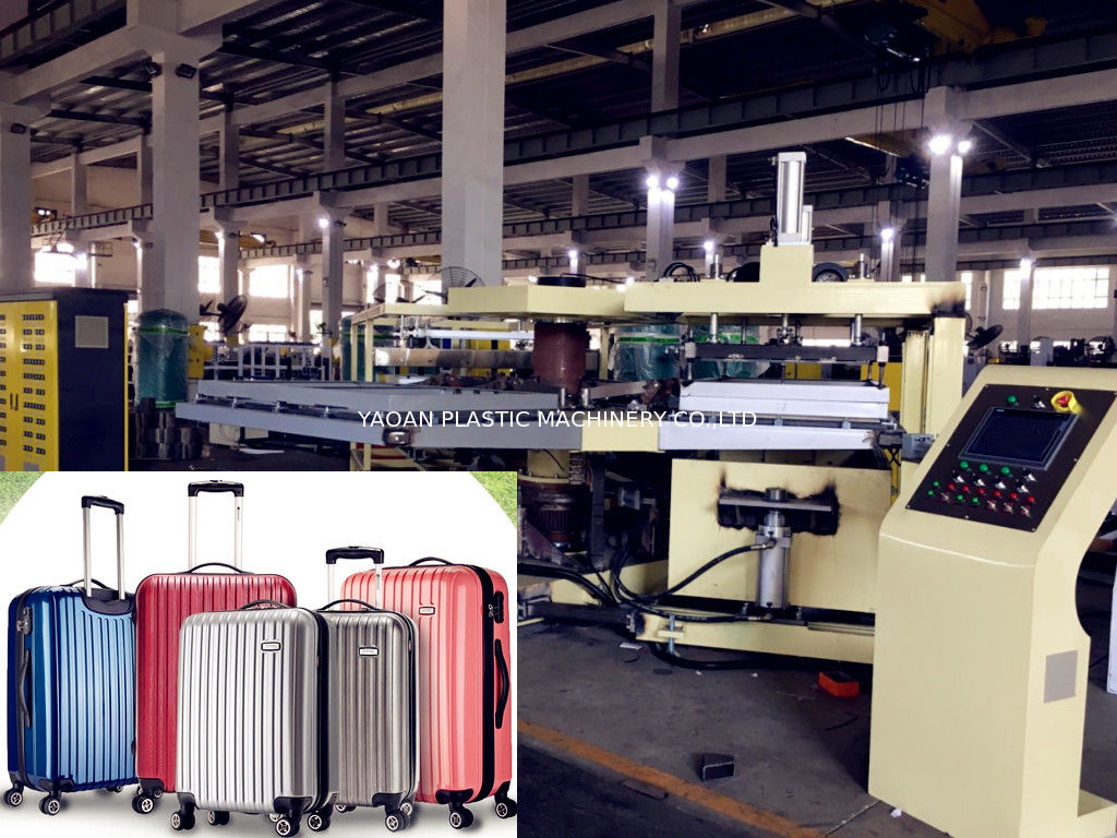 PS Plastic Sheet Extrusion Machine , Vacuum Thermoforming Suit Case Luggage Forming Machine supplier